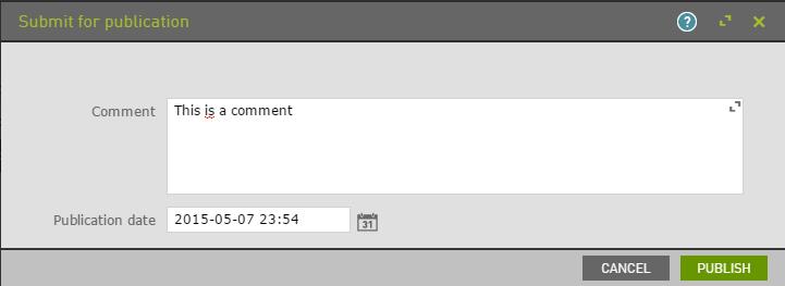 Standard workflow parameters